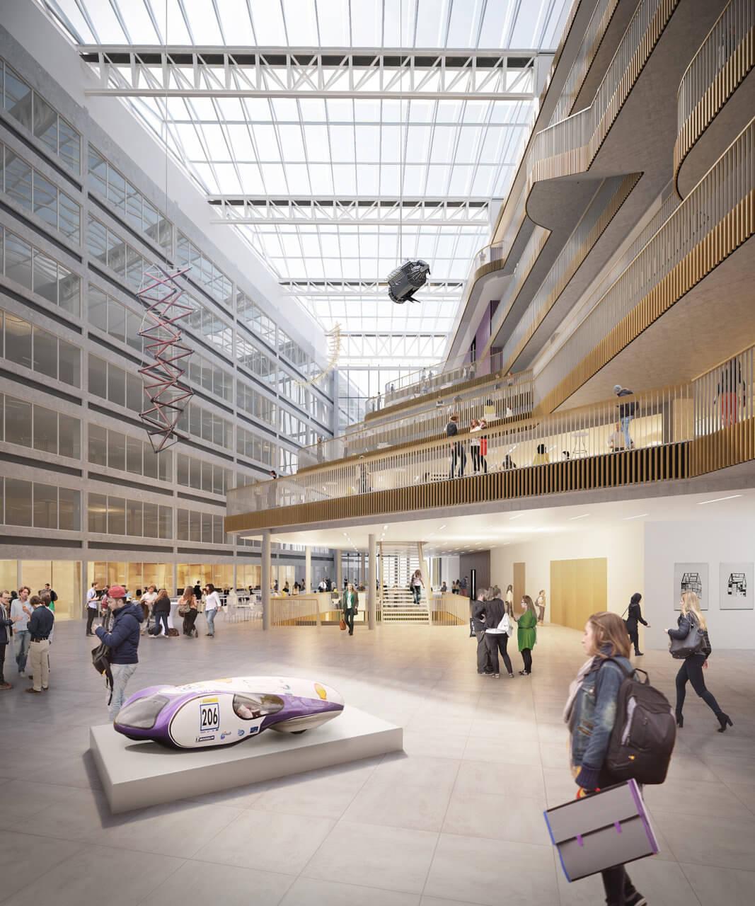 Powerhouse Company - Rhijnspoorgebouw - atrium - Image by 3dstudio prins sm